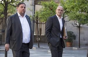 Oriol Junqueras y Raül Romeva, exvicepresident yexconseller de la Generalitat