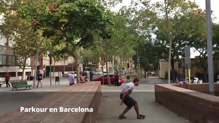 Parkour en Barcelona