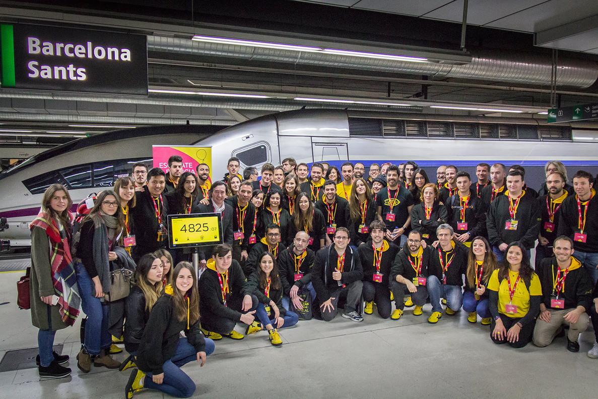 Participantes de Imagine Express en una pasada edición.