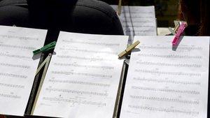 Partitura musical.