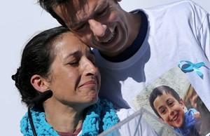 Patricia Ramírez y Ángel, los padres de Gabriel Cruz.