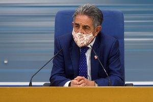 El presidente de Cantabria, Miguel Ángel Revilla, durante la rueda de prensa de este lunes trasla Conferencia de presidentes autonómicos