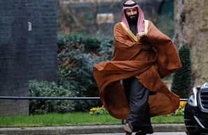 El príncipe Mohamed bin Salmán, en su visita oficial a Londres de principios de marzo.