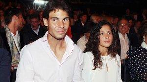 El tenista Rafa Nadal y su entonces novia, Mery Perelló.