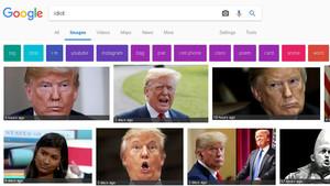 Resultados de la palabra idiot en el apartado de Google