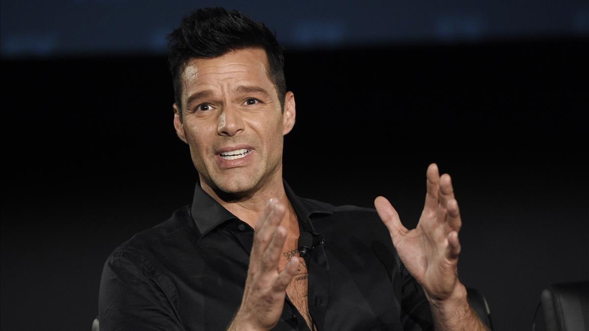 Ricky Martin, en la presentación de la segunda temporada de la serie 'American Crime Story', centrada en el asesinato de Gianni Versace.