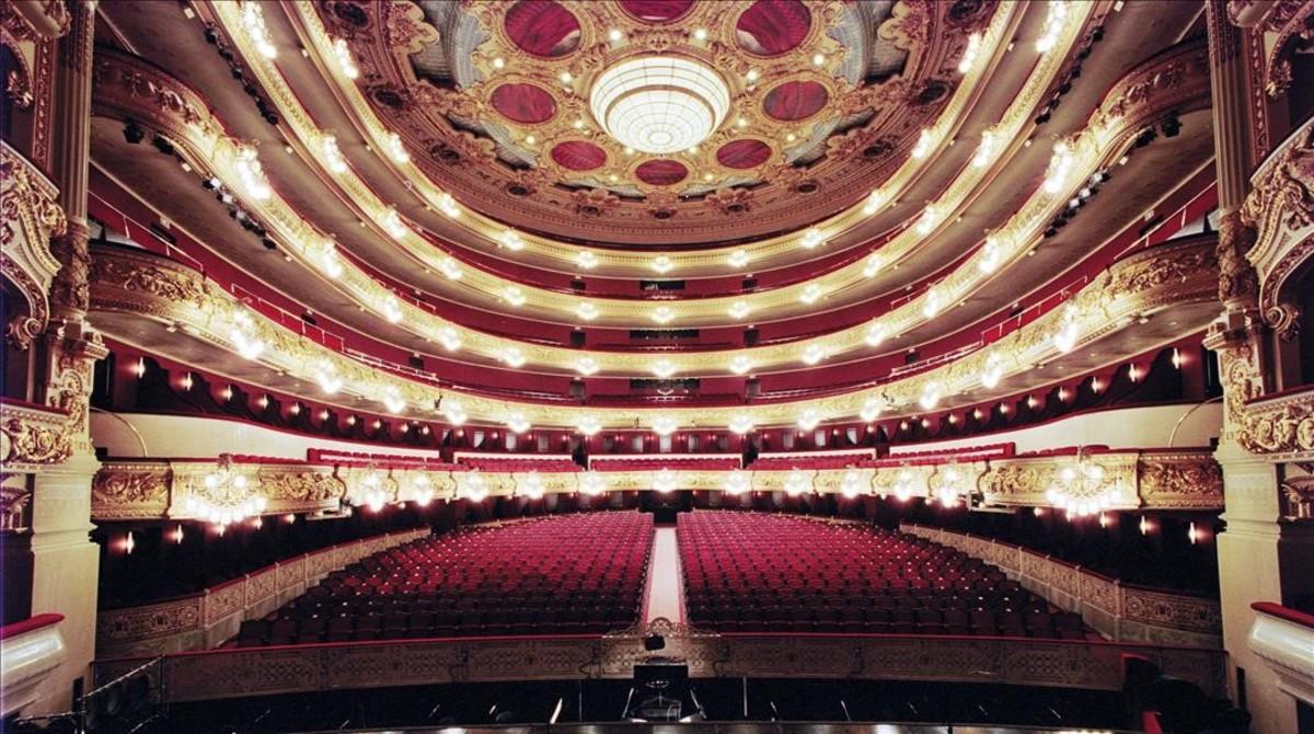 La sala del Liceu vista desde el escenario.