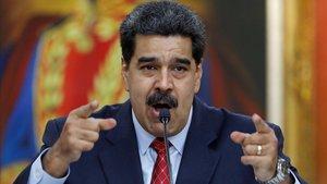 Rueda de prensa de Nicolás Maduro en Caracas.