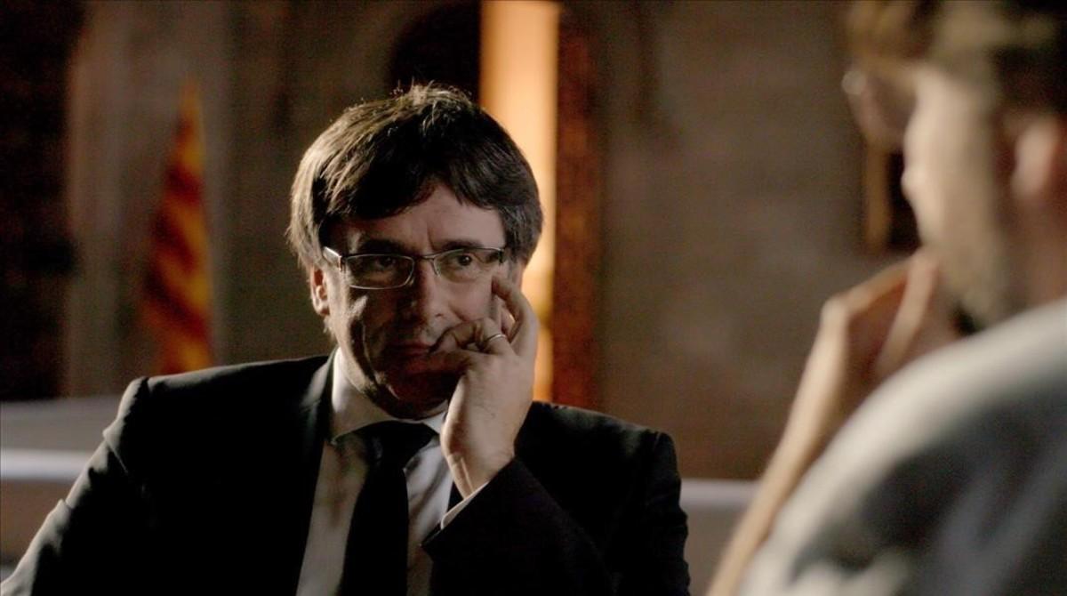 Carles Puigdemont conversa con Jordi Évole en el especial por el 1-O de 'Salvados' (La Sexta).
