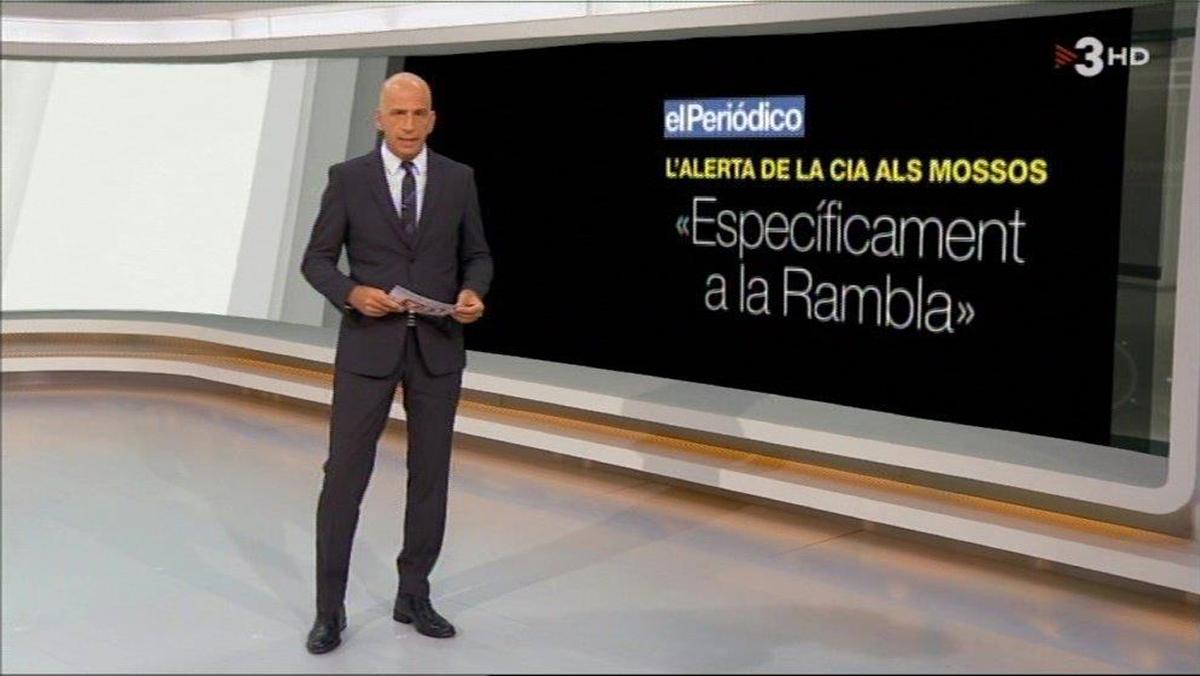 'Telenotícies vespre' (TV-3, jueves, 31).