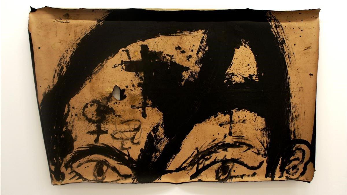 'Cara', de Antoni Tàpies.