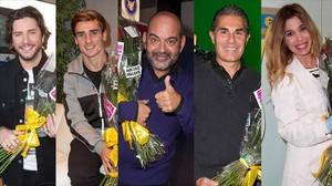 Manuel Carrasco, Antoine Griezmann, Jose Corbacho, Sergio Scariolo y Natalia, los inocentes de la gala que emite TVE-1.