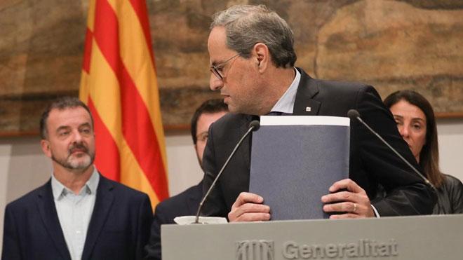 Torra se dirige a la Junta Provincial de Barcelona para notificar su intención de recurrir ante el Supremo.