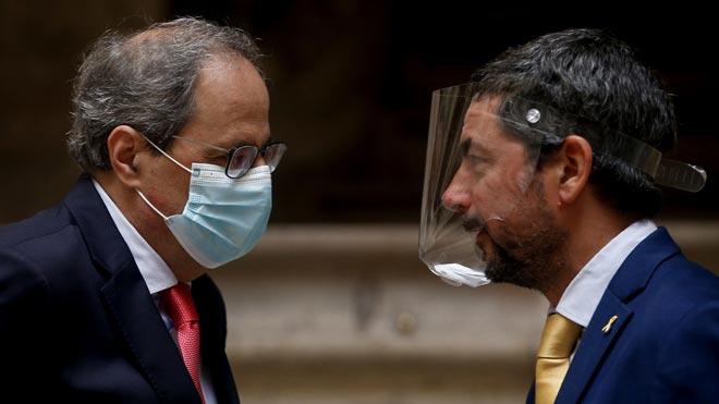 Torra insta a los empresarios a rebelarse contra el Gobierno español. En la foto, Quim Torra y Joan Canadell.