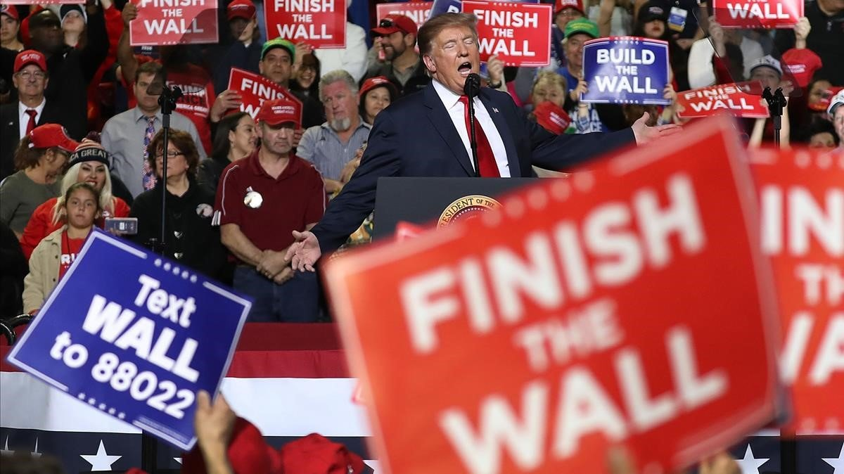 Trump, durante su mitin en El Paso (Texas).