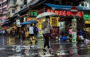 Una calle de Hong Kong el 6 de junio del 2020.