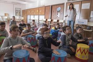 Una clase de la escuela Magraners, de Lleida, que pasará a ser un instituto-escuela.