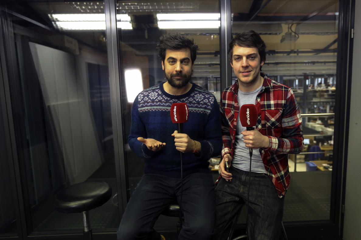 Esteban Navarro y Xavi Daura, Venga Monjas, durante un Facebook Live
