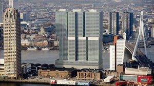 Vista aérea de la ciudad de Rotterdam.
