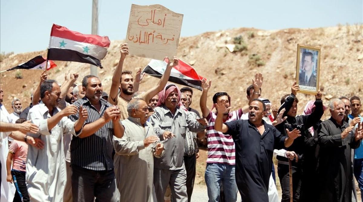 Daraa, la ciutat on va néixer la rebel·lió siriana, a punt de caure en mans d'al-Assad