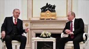 Erdogan y Putin, el 23 de enero del 2019 en el Kremlin de Moscú.