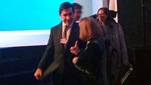 Calviño es reuneix amb el president del BBVA a Davos