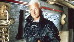 Rutger Hauer, en el rodaje de 'Blade Runner'.