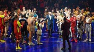Messi, aclamado en el estreno del espectáculo 'Messi10'.