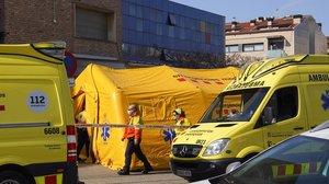 Coronavirus: Sant Andreu de la Barca instal·la un hospital de campanya