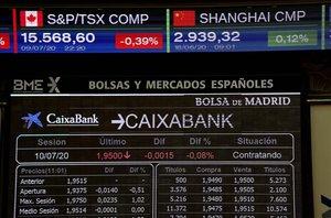 Ambiente en La Bolsa de Madrid esta mañana.
