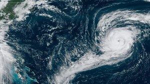 Imagen de satélite del huracán 'Paulette', en el golfo de México.