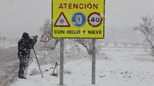 televisión tormenta de nieve