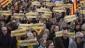 Manifestación de la ANC en Barcelona