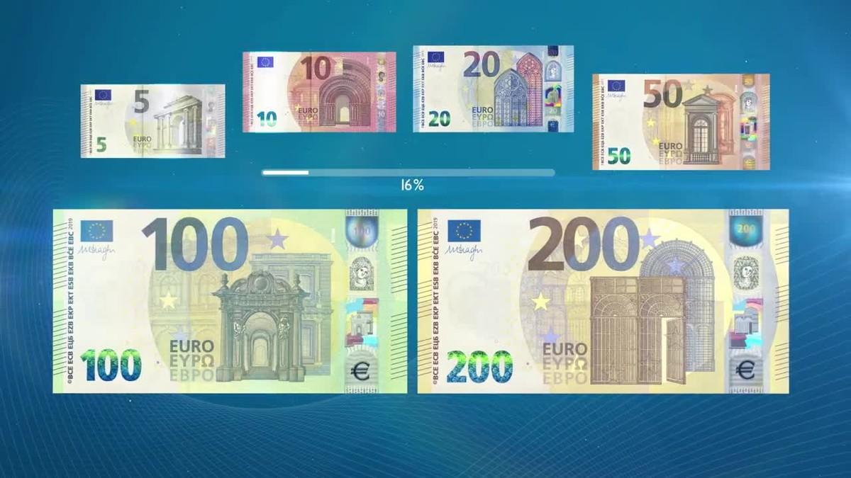 presentaci n de los nuevos billetes de 100 y 200 euros. Black Bedroom Furniture Sets. Home Design Ideas