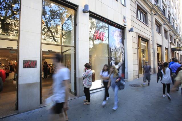 Tienda de H&M en el paseo de Gràcia de Barcelona.