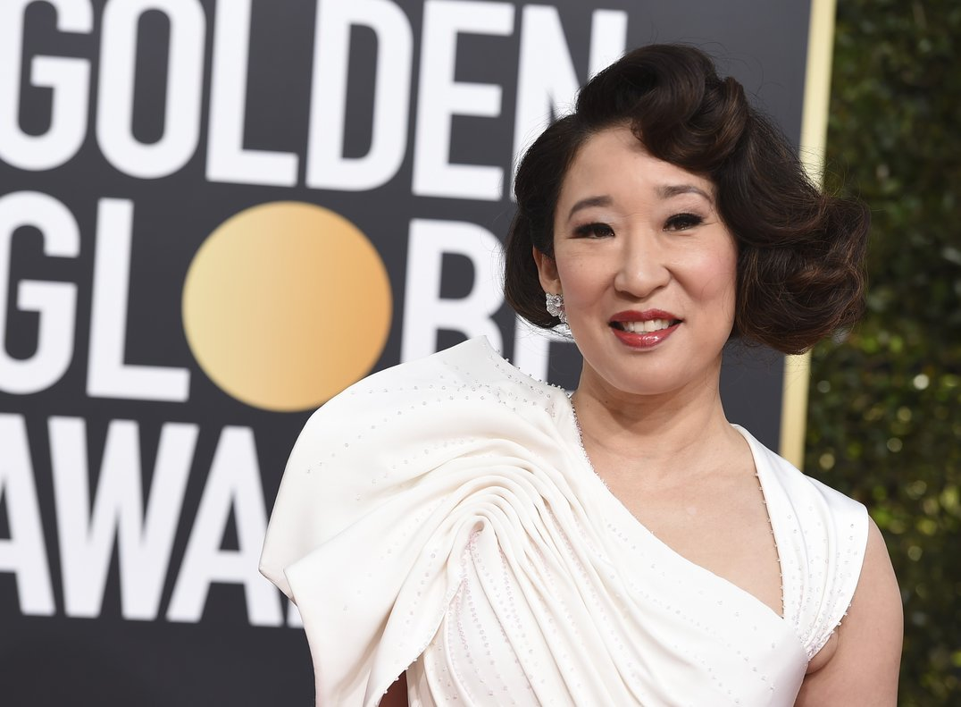 Sandra Oh arrives at the 76th annual Golden Globe Awards at the Beverly Hilton Hotel on Sunday  Jan  6  2019  in Beverly Hills  Calif   Photo by Jordan Strauss Invision AP