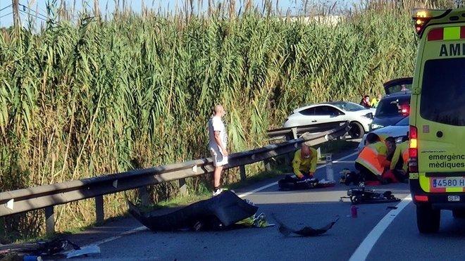Accidente en la C-1413a en El Papiol.