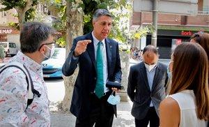 El alcalde de Badalona, Xavier García Albiol, tras declarar en los juzgados.