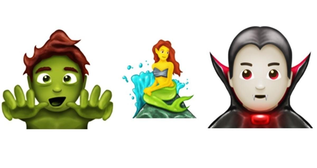 Los nuevos 'emojis' tendrán zombis, dráculas, sirenas y el tercer sexo