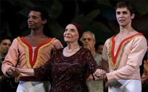 La bailarina cubanaAlicia Alonso.