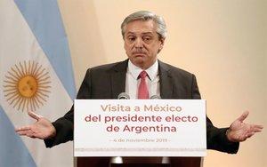 Alberto Fernández, presidente electo de Argentina durante su visita a México.