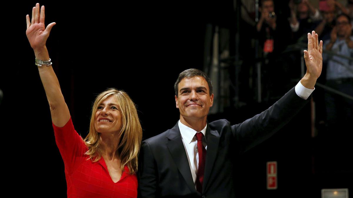 Begoña Gómez y su marido, Pedro Sánchez, en una imagen del 2015.