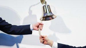 La campana de la bolsa, símbolo del éxito empresarial.