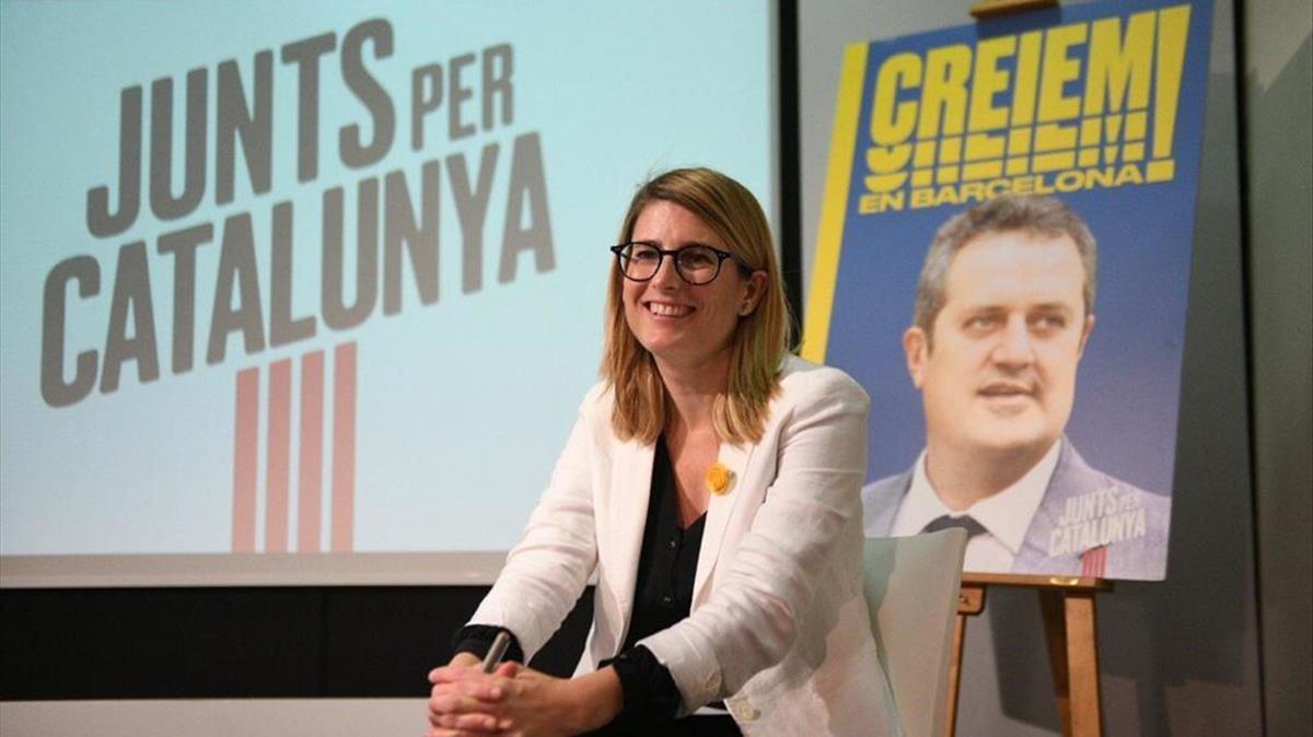 La candidata de JxCat, Elsa Artadi.