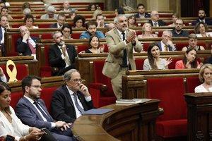 Carlos Carrizosa, de Ciutadans, en lasesión del debate de política general del Parlament.