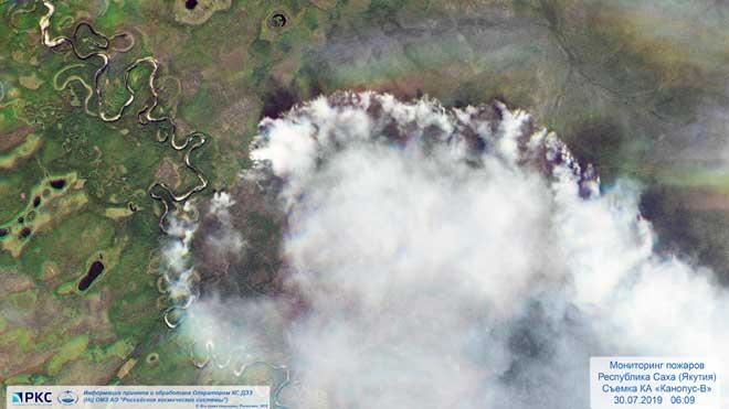 Casi cuatro millones de hectáreas arden en Siberia.