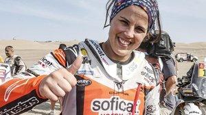 La catalana Laia Sanz (KTM) volvió a brillar a gran altura en el Dakar peruano.