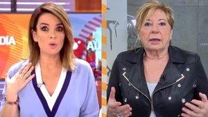 Carme Chaparro y Celia Villalobos.