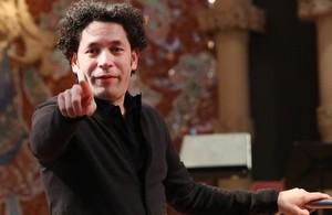 Gustavo Dudamel, en el Palau de la Música, el pasado viernes.