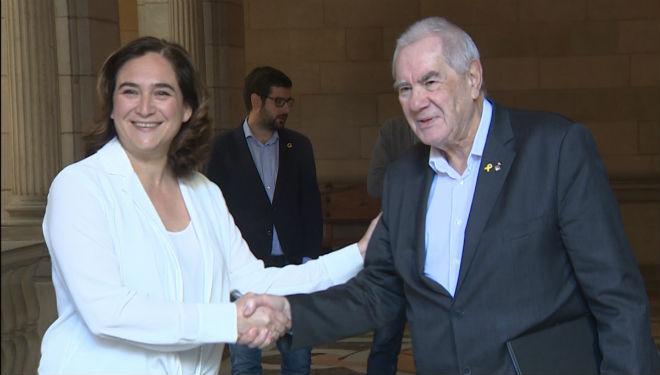 Colau y Maragall dan por hecho el pacto sobre los presupuestos de Barcelona.